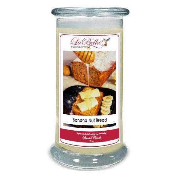 Banana Nut Bread Scented Candle - Fine Gifts La Bella Basket Company