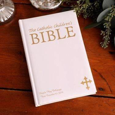 Catholic Children's Bible - Laser Engraved Large - Fine Gifts La Bella Basket Company