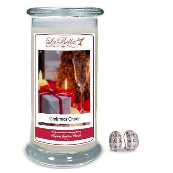 Christmas Cheer Jewelry Candles - Fine Gifts La Bella Basket Company