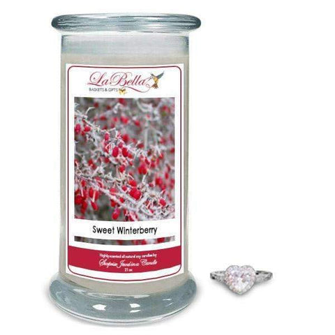 Sweet Winterberry Scented Jewelry Candles - Fine Gifts La Bella Basket Company