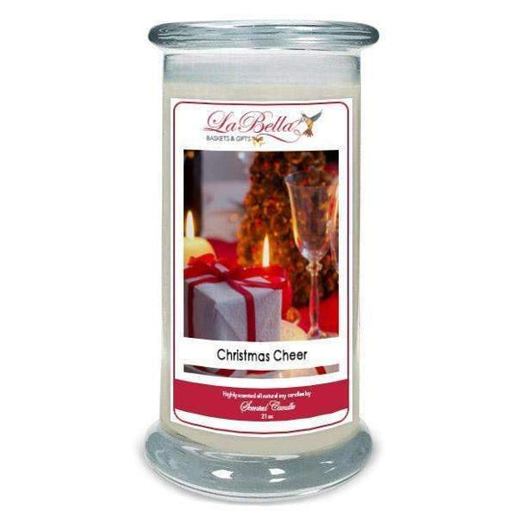Christmas Cheer Scented Soy Candles - Fine Gifts La Bella Basket Company
