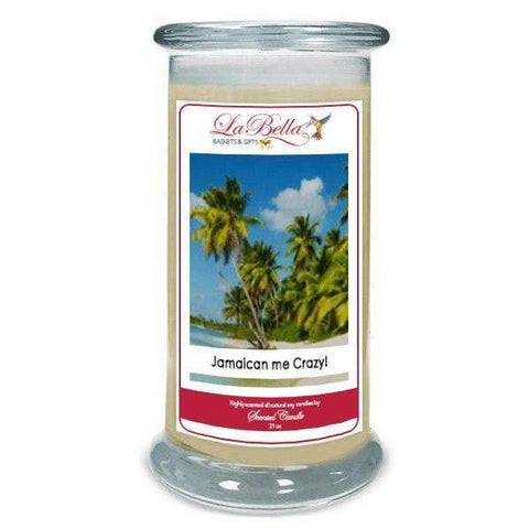 Jamaican Me Crazy Scented Soy Candle - Fine Gifts La Bella Basket Company