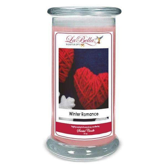 Winter Romance Scented Soy Candles - Fine Gifts La Bella Basket Company