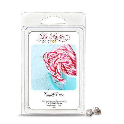 Candy Cane Jewelry Soy Wax Jumbo Tart Melts - Fine Gifts La Bella Basket Company