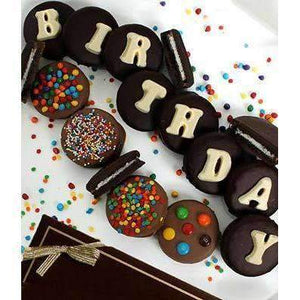 BIRTHDAY Belgian Chocolate Covered OREO® Cookies - Fine Gifts La Bella Basket Company