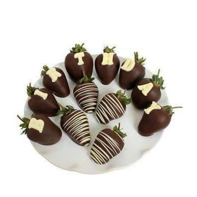 BIRTHDAY Chocolate Covered Strawberry - Fine Gifts La Bella Basket Company