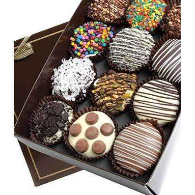 Birthday Cupcakes Dipped in Belgian Chocolate - One Dozen - Fine Gifts La Bella Basket Company