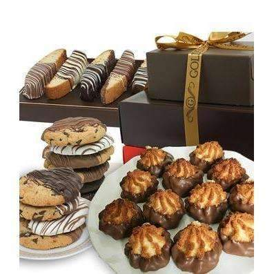 Chocolate Covered Cookie Tower - Fine Gifts La Bella Basket Company
