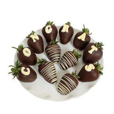 CONGRATS Chocolate Covered Strawberries - Fine Gifts La Bella Basket Company