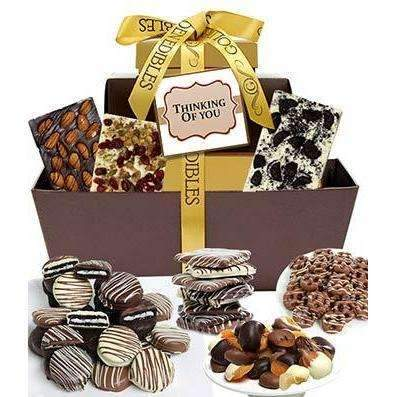 THINKING OF YOU Chocolate Gift Tower - Fine Gifts La Bella Basket Company