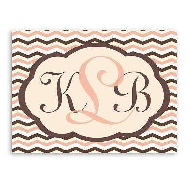 Baby Girl Chevron Canvas Sign