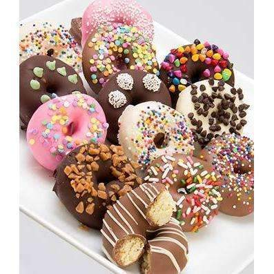 Chocolate Mini Donuts - One Dozen - Fine Gifts La Bella Basket Company