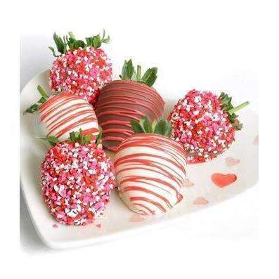 Loving Chocolate Covered Strawberries - 6 Pieces - Fine Gifts La Bella Basket Company