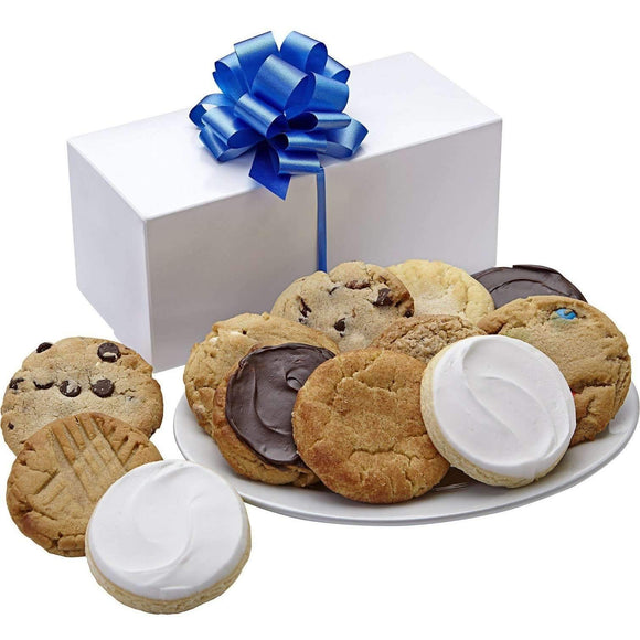 Sugar Free Cookies in Classic White Box - One Dozen - Fine Gifts La Bella Basket Company