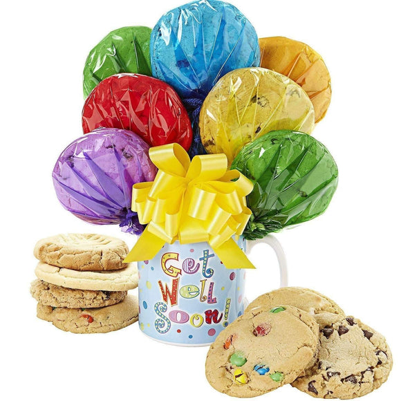 Sugar Free Cookies in Get Well Mug - Fine Gifts La Bella Basket Company