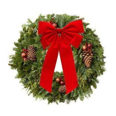 Christmas Wreath - Fine Gifts La Bella Basket Company