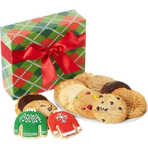 Dozen Sweater Holiday Cookie Box - Fine Gifts La Bella Basket Company