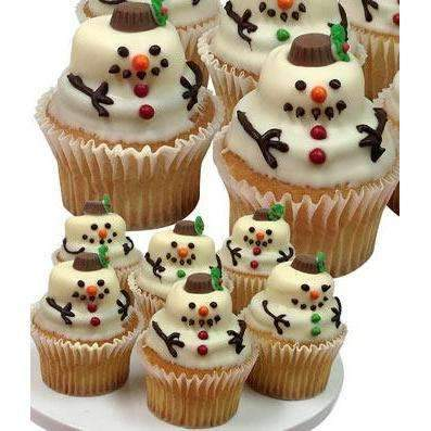 Snowman Chocolate Covered Cupcakes - Fine Gifts La Bella Basket Company