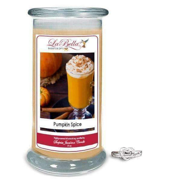Pumpkin Spice Scented Jewelry Candles - Fine Gifts La Bella Basket Company