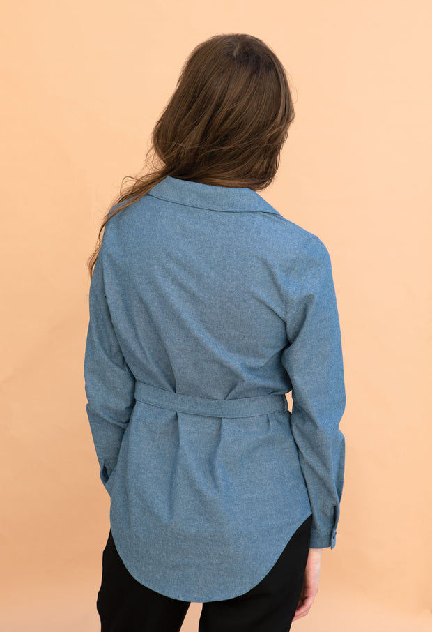 Harbor - Chambray - KESTAN Sustainable Modern Woman's Workwear