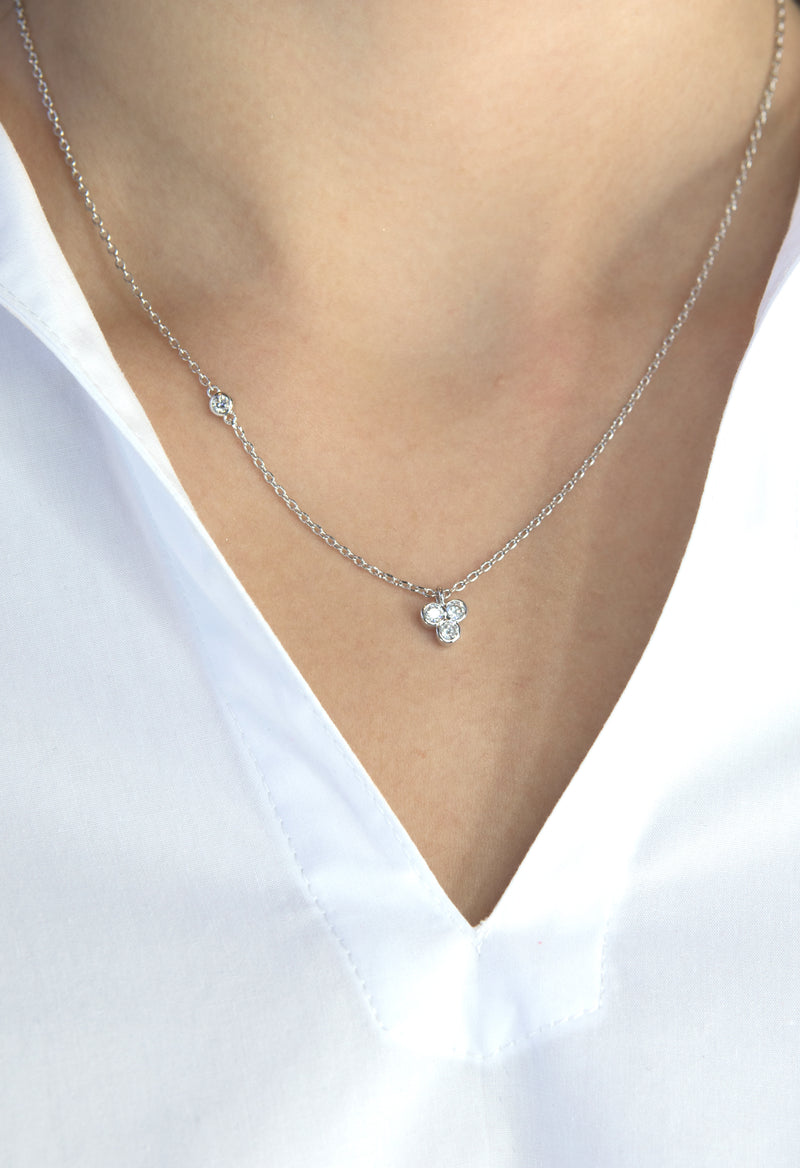 Avery Necklace - Silver Rhodium - Kestan