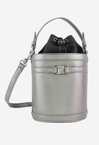 Burke Crossbody Bucket - Gunmetal - KESTAN Sustainable Modern Woman's Workwear