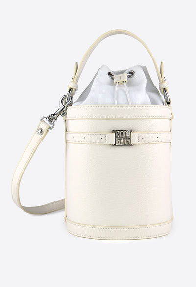 Burke Crossbody Bucket - Cream - KESTAN Sustainable Modern Woman's Workwear