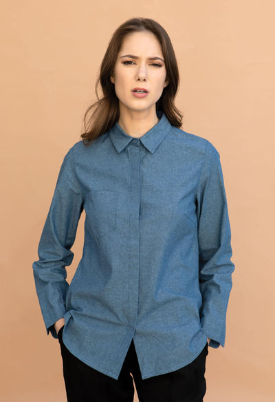 Chapman - Chambray - KESTAN Sustainable Modern Woman's Workwear