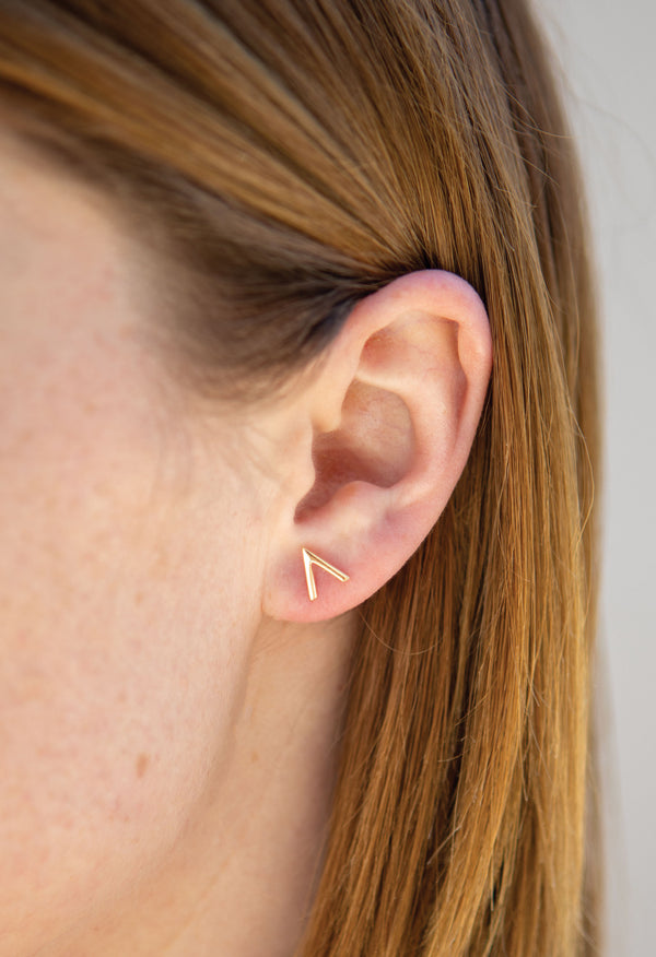 Vern Earring - Solid Gold Vermeil - KESTAN Sustainable Modern Woman's Workwear