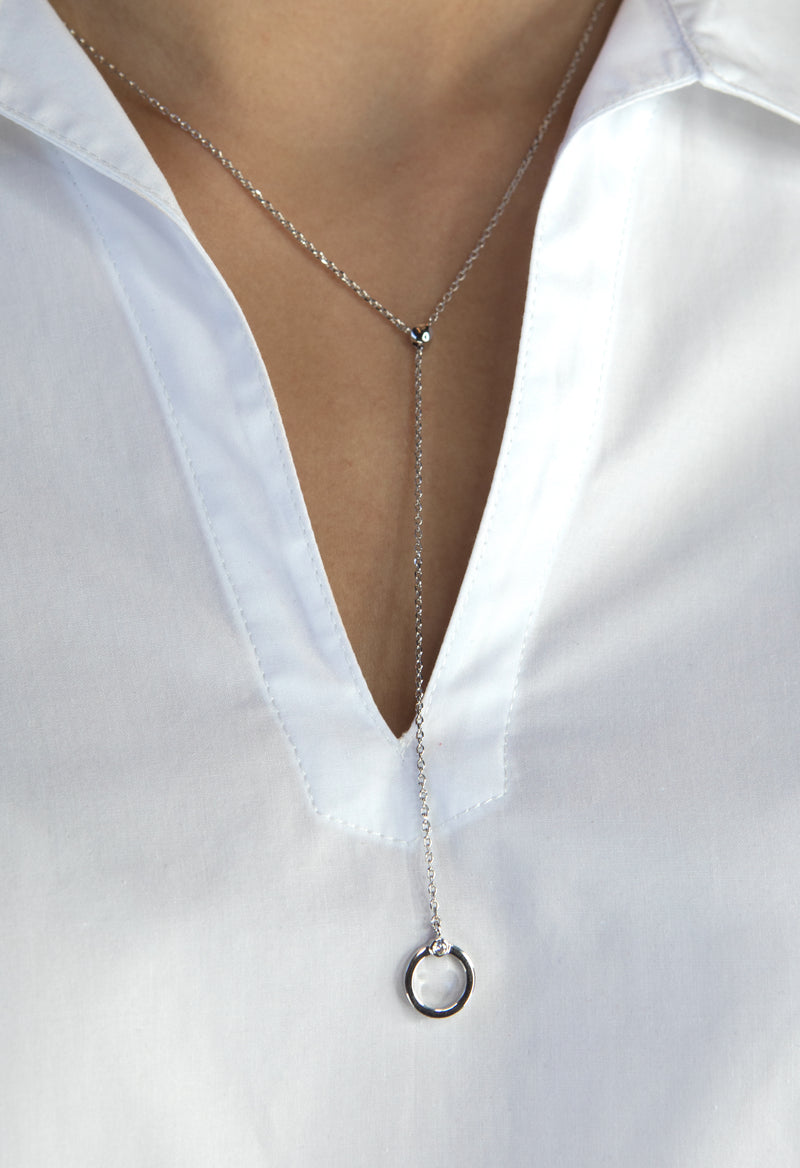 Lewis Necklace - Silver Rhodium - Kestan