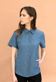 Mills - Chambray - KESTAN Sustainable Modern Woman's Workwear