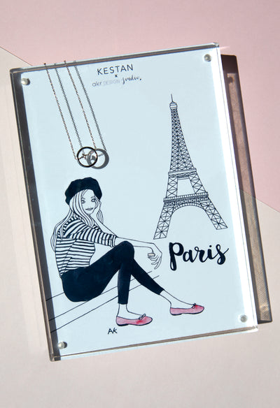 Kestan x AKR - Silver Paris Necklace - KESTAN Sustainable Modern Woman's Workwear