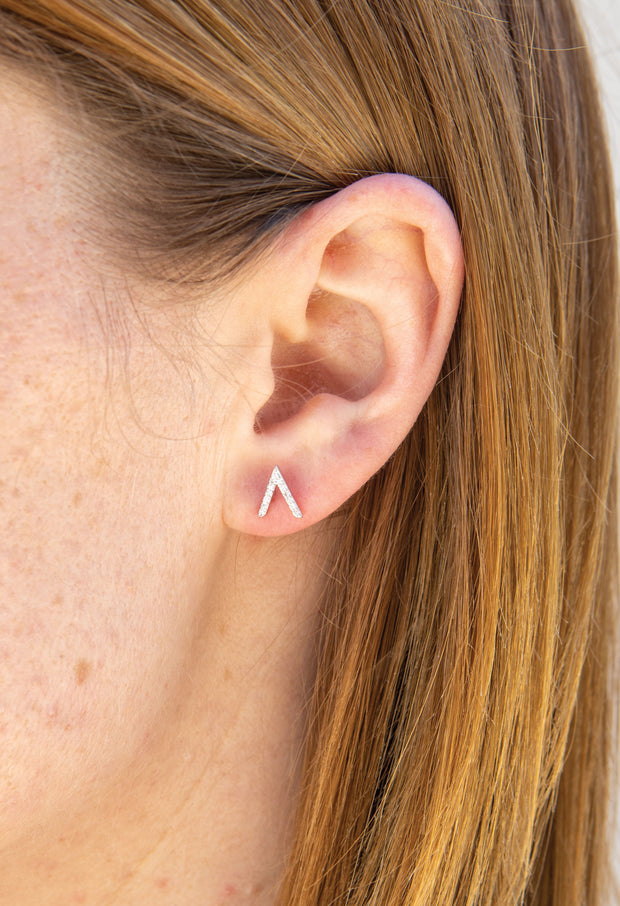 Vern Earring - Pavé Sterling Silver - KESTAN Sustainable Modern Woman's Workwear