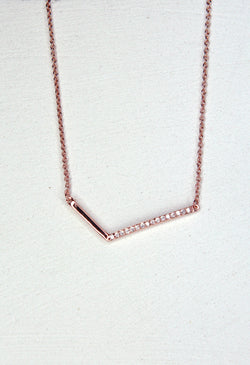 Weathervane Necklace - Rose Gold - Kestan
