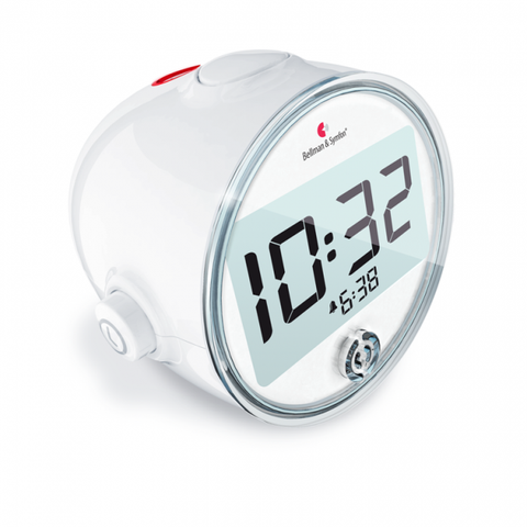 Alarm clocks for hearing impaired: Side view of Bellman Alarm Clock Pro [BE1370] - ezisound