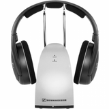 Headset for hearing impaired: Sennheiser RS 120 II Wireless Headphones, front view - ezisound