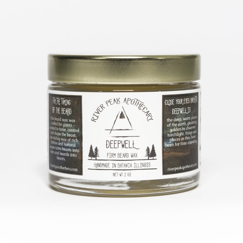 Deepwell • Firm Beard Wax • No Scent Added