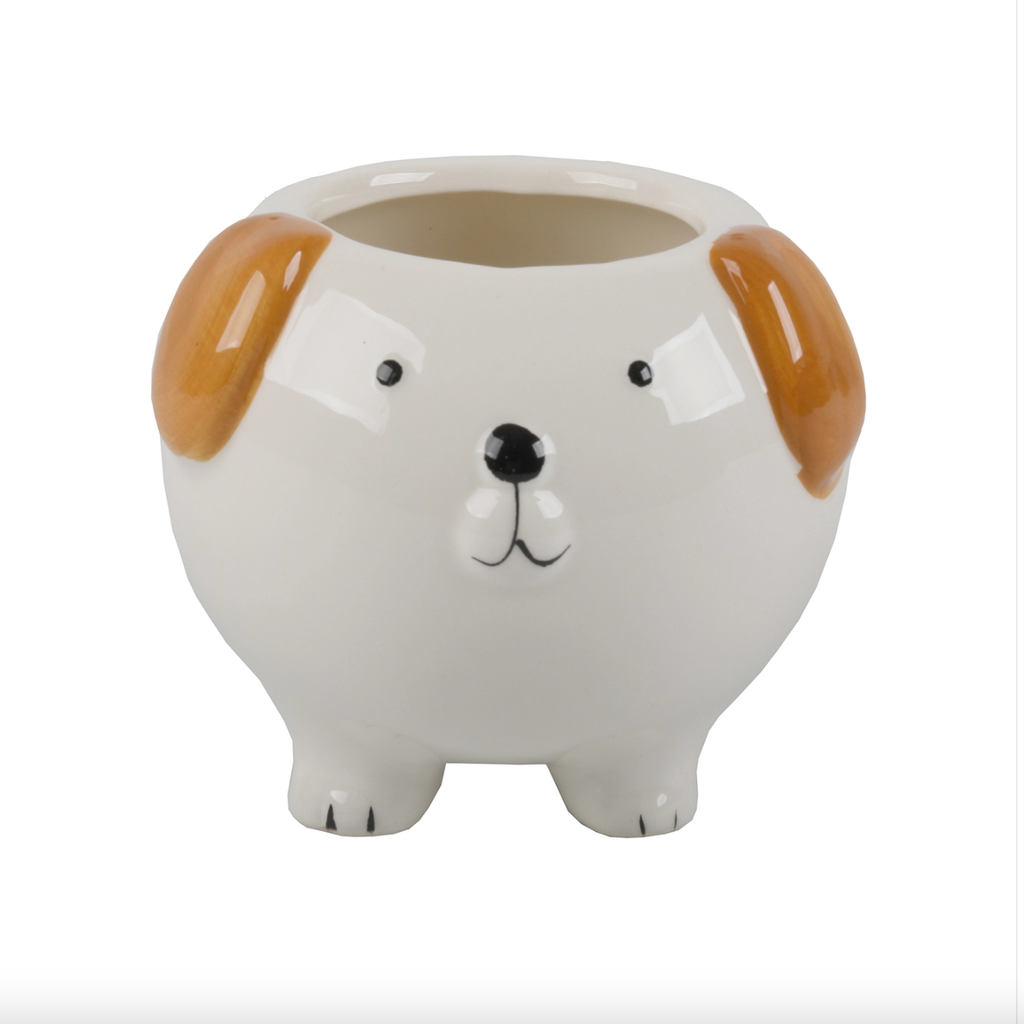 "Dog Ceramic Planter 4"" {Empty}"