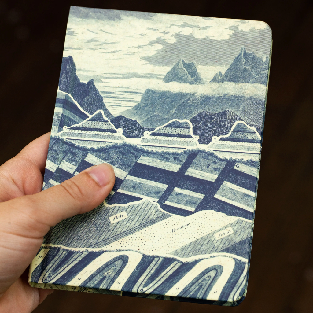 Mini Hardcover Notebook • Geological Strata