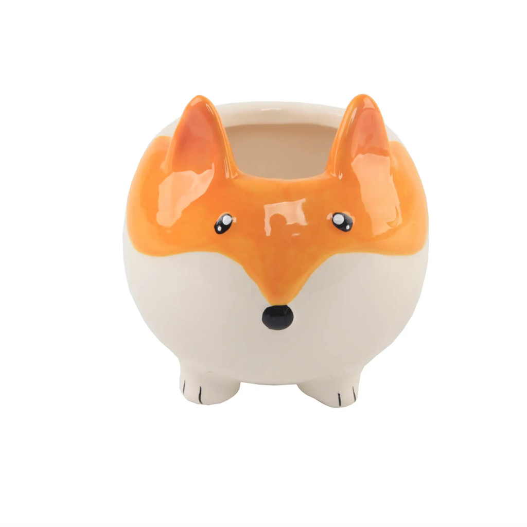"Fox Ceramic Planter 5"" {Empty}"