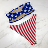 American flag high hip bikini