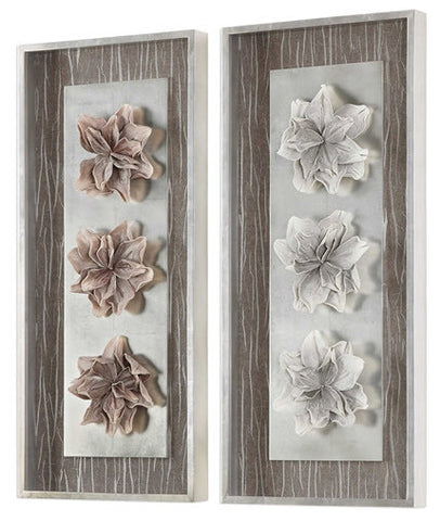 Adrienn Floral Shadow Boxes, Set of 2 - Innovations Designer Home Decor