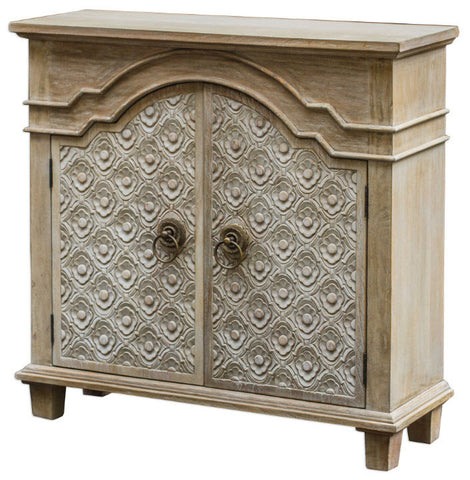 Allaire Carved Accent Cabinet - Innovations Designer Home Decor