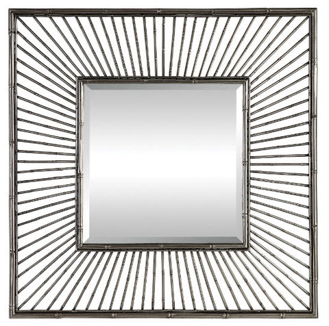Anji Metallic Silver Square Wall Mirror - Innovations Designer Home Decor