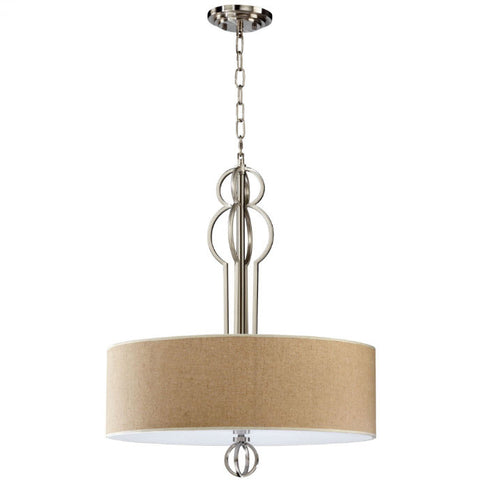 Auburn Satin Nickel Pendant Lighting Fixture - Innovations Designer Home Decor