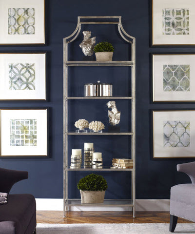Aurelie Silver Etagere - Innovations Designer Home Decor