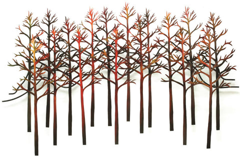 Autumnal Forest Contemporary Wall Sculpture - Innovations Designer Home Decor