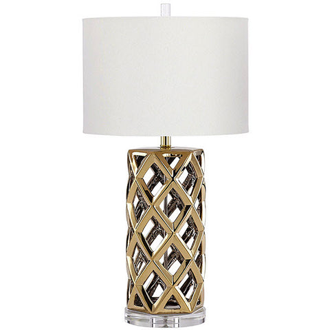 Baba Satin Brass Ceramic Table Lamp - Innovations Designer Home Decor