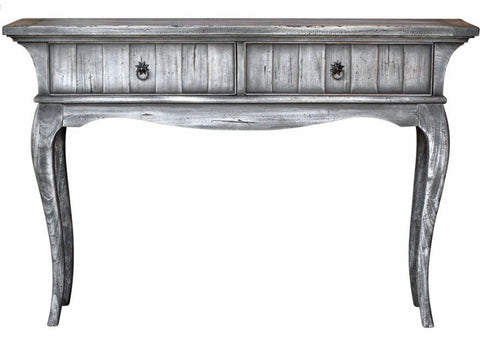 Bernie Gray Driftwood Finish Console Table - Innovations Designer Home Decor