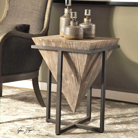 Bertrand Gray Wash Wood Accent Table - Innovations Designer Home Decor